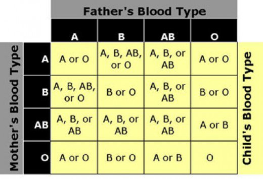 Mother and Father Blood Groups by DNA Diagnostics Center