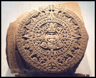 The Aztec Sun Stone - public domain image