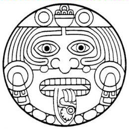 Aztec tattoo designs mayan tattoos for Aztec gods coloring pages
