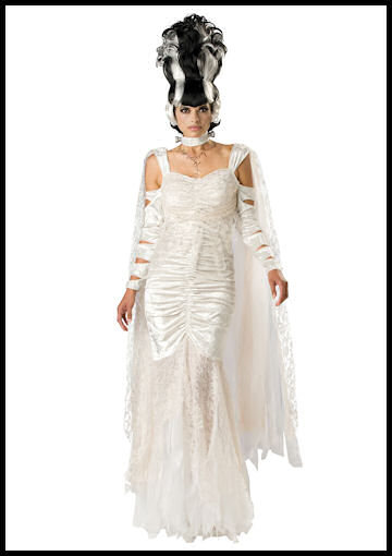 Deluxe Bride of Frankenstein Costume by Halloween Costumes at LinkShare
