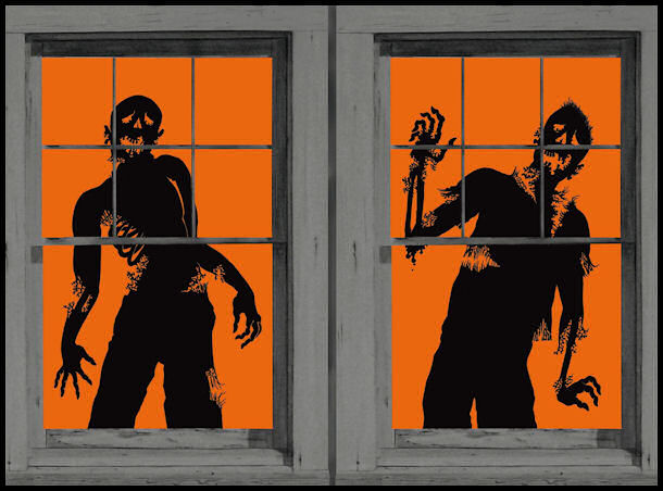 Ghoulies, Zombies, Window Clings by Halloween Costumes at LinkShare