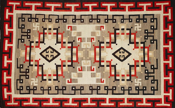 Navajo Rug Sean Pathasema/Birmingham Museum of Art CC-BY-3.0 via Wikimedia Commons