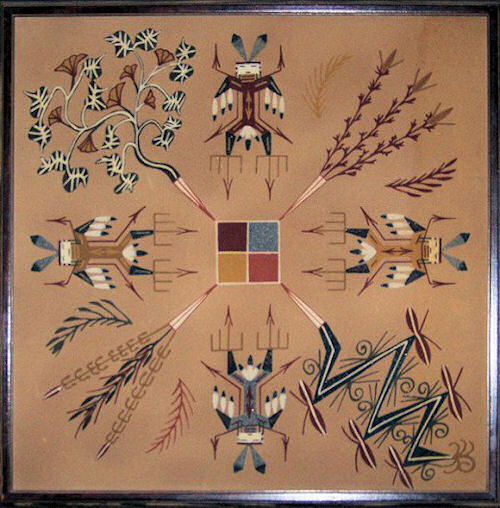 Navajo Sand Painting - personal collection - L.A Cargill