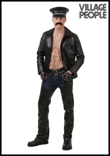 Plus Size Village People Biker Costume by Halloween Costumes at LinkShare