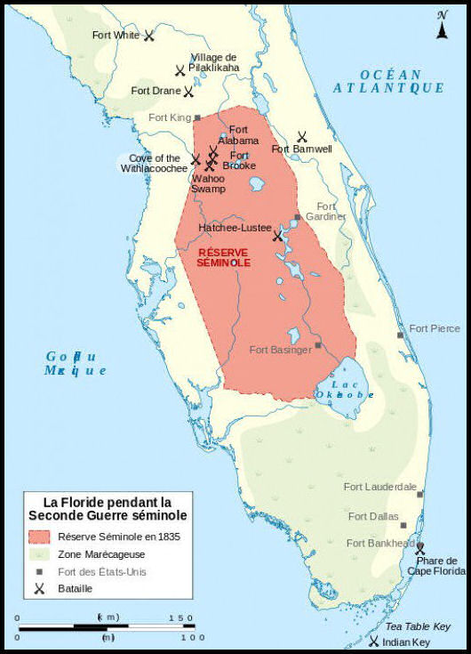 Map of the Seminole area of Florida