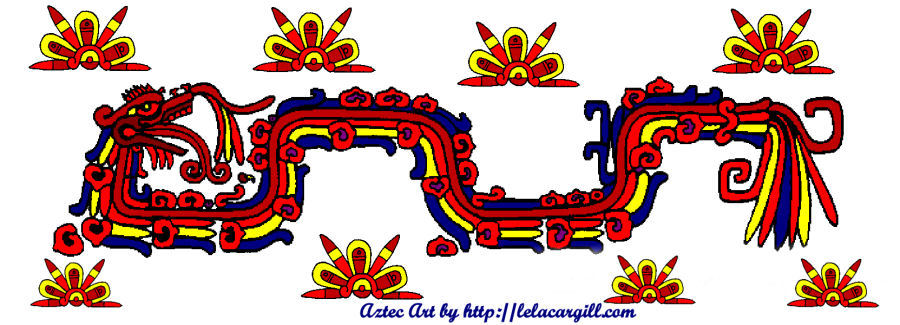 Quetzalcoatl, the feathered serpent tattoo design