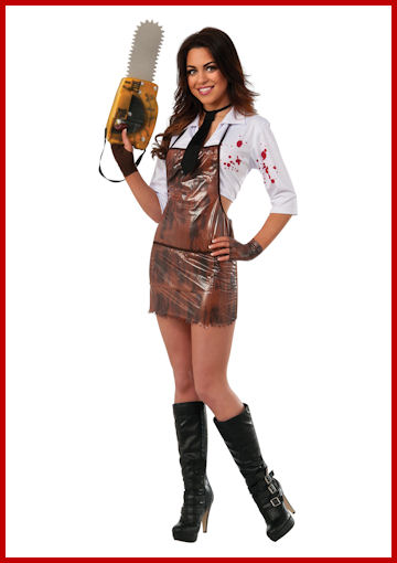 Women's Texas Chain Saw Costume by Halloween Costumes at LinkShare