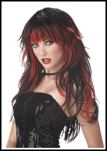 Woman's Vampire Wig by Halloween Costumes at LinkShare